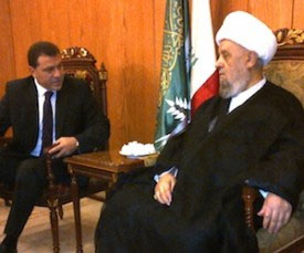 Mussalaha President Dr. Hassan Yaacoub and the delegation meet with Sheikh Hussain Qabalan, Vice Chairman of the Higher Shiite Council