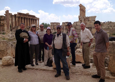 Mussalaha team members at Baalbek preparing to cross into Syria