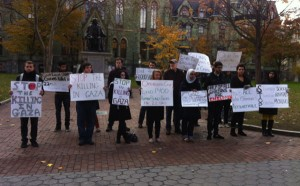 US students protest for Palestine