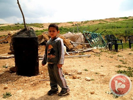 A Palestinian boy pictured in the Jordan Valley.