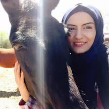 Amena and horse